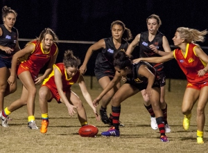 Women's Australian rules football match between Bond University and Burleigh Sat 19 Jul 2014