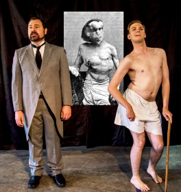 L-R Steve Marvanek and Robert Bell in The Elephant Man for Adelaide Rep