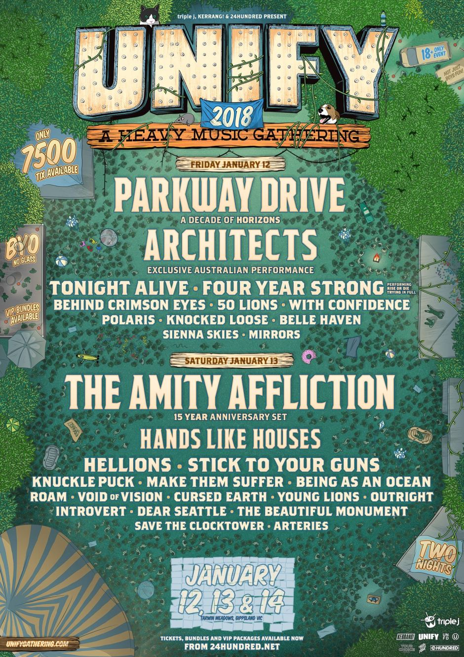 UNIFY 2018 A Heavy Music Gathering Parkway Drive The Amity Affliction