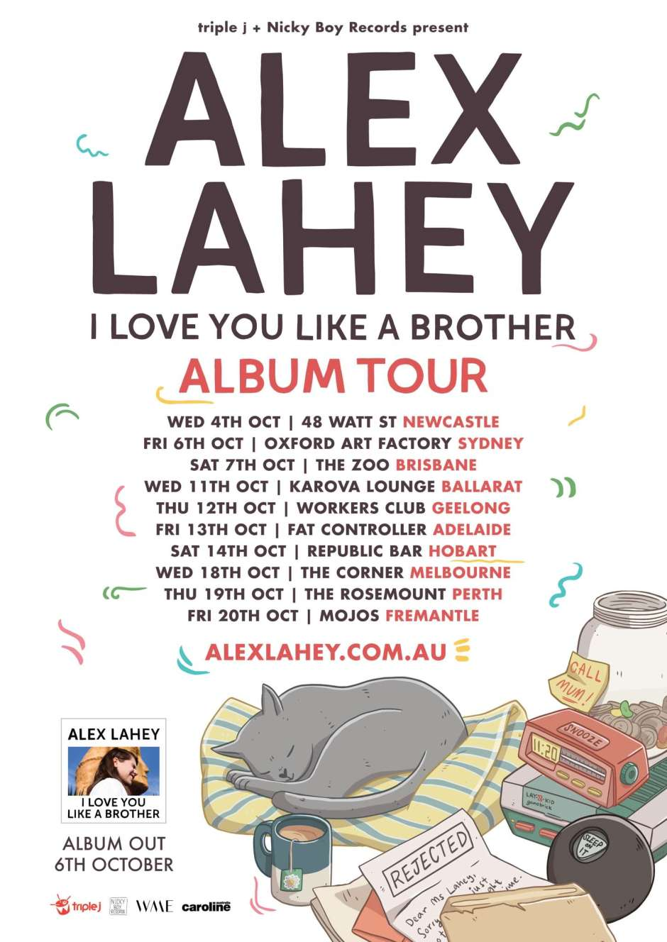 Alex Lahey I Love You Like A Brother Album Australian Tour October 2017