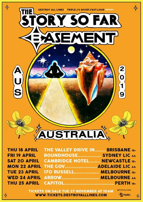 The Story So Far and Basement Australian Tour Poster